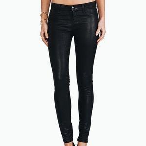 J Brand Leather-like Coated Skinny Pants